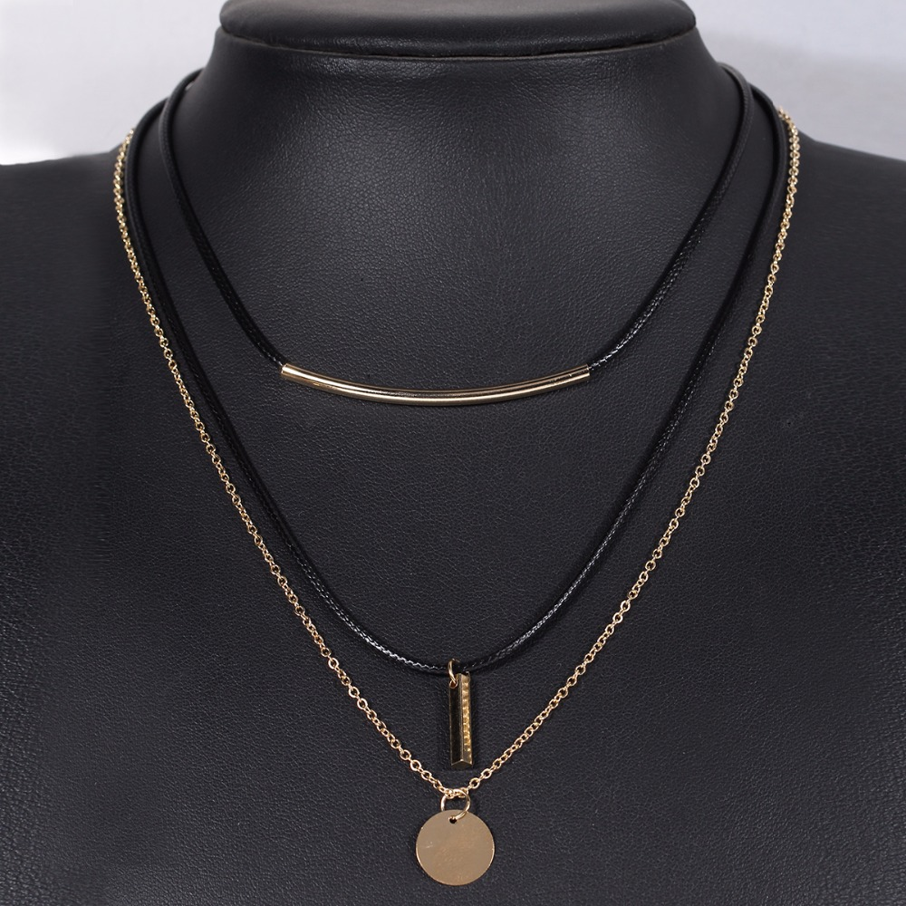Newest Arrival Layer Link Velvet Chokers Necklaces for