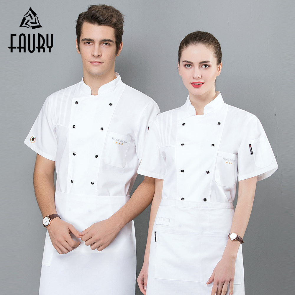 Wholesale Unisex Kitchen Chef Restaurant Uniform Shirt Breathable Double Breasted Chef Jacket Restaurant Hotel Cook Work Clothes