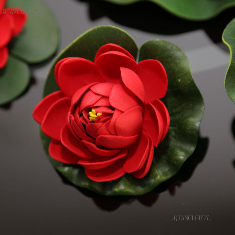2019 Decorations Artificial Dried Artificial Red Lotus Leaves Water