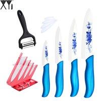 XYJ Ceramic Knife Fruit Utility Slicing Chef 3 4 5 6 Blue Handle Kitchen Knife Acrylic