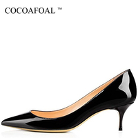 COCOAFOAL Woman Red Bride High Heels Shoes Big Size 43 44 45 Low Heel Valentine Shoes Green Blue Pink White Purple Sexy Pumps