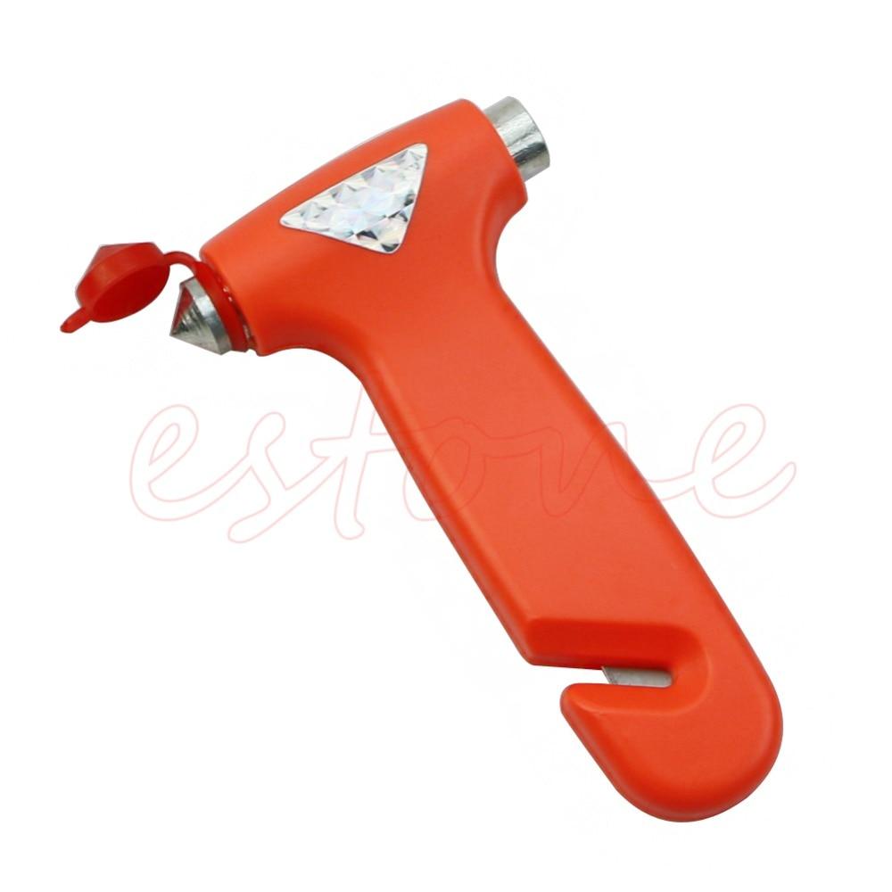 New 1 Pc Break Window Glass Hammer Auto Car Emergency Safety Gear Belt Rope Cutter Tool Car Accessories