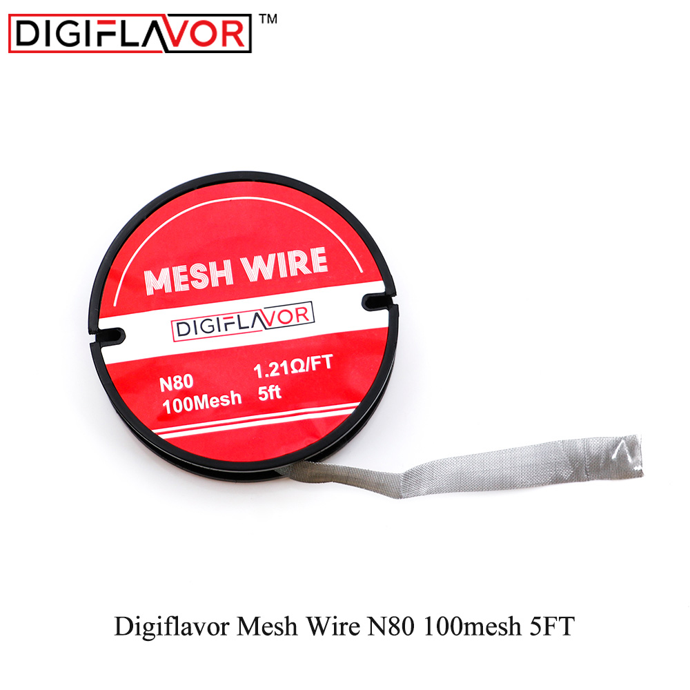 Electronic cigarette Digiflavor Mesh <font><b>Wire</b></font> <font><b>N80</b></font> 100mesh 5FT Vape Coil for mesh RDTA RTA tank DIY atomizer vape accessories image