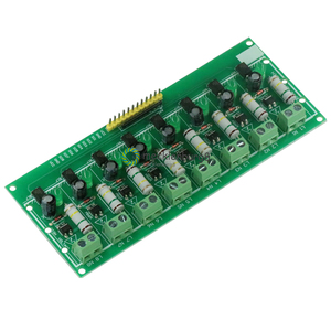 Image 1 - 8 Ch channel AC 220 V 3 V 5 V 8 channel optocoupler isolation Tests board isolated detection Tests er PLC processors module