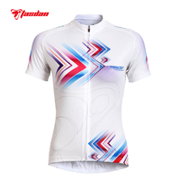 Tasdan Cycling Jersey Women 2016 Charges Short Sleeve Bicycle Sports Cycling Jerseys Summer White Cycling Clothes