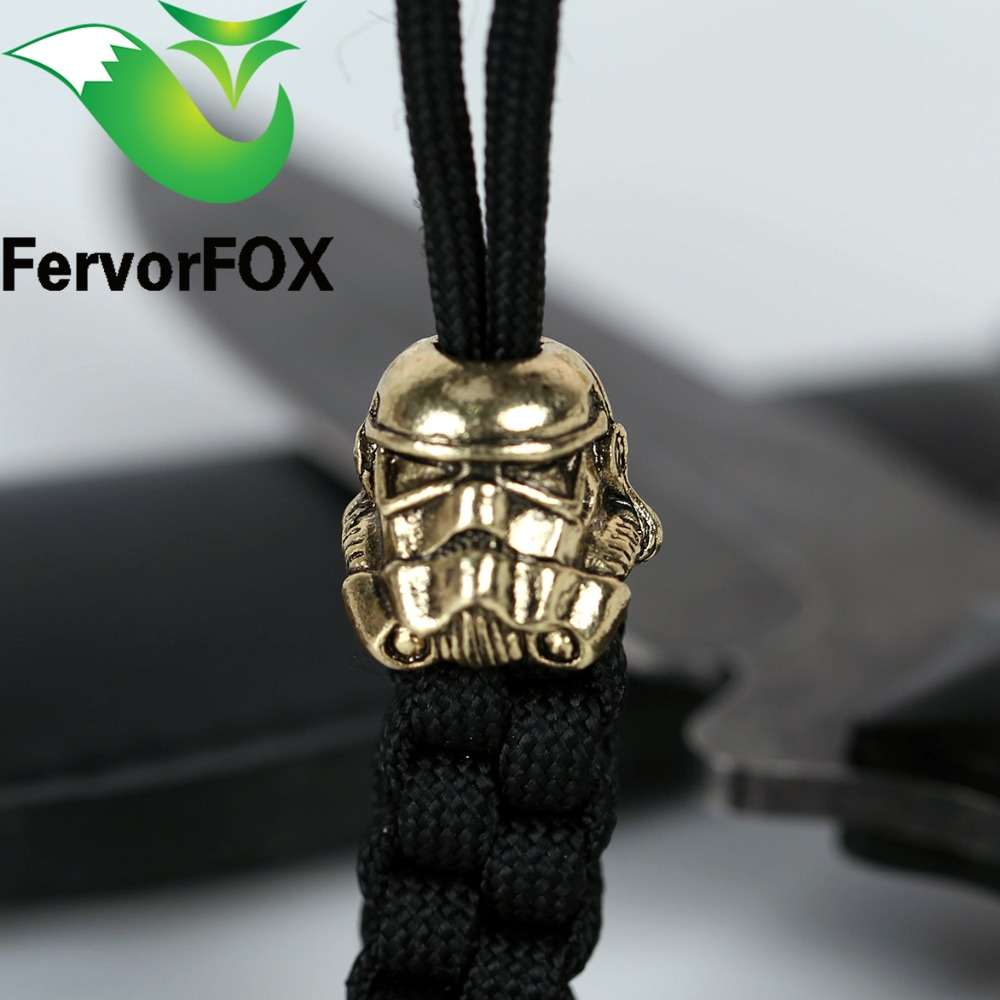 Paracord Beads Charms in metallo Teschio per Paracord Accessori Braccialetto di Sopravvivenza, Fibbia con pendente fai da te per Paracord Knife Lanyards
