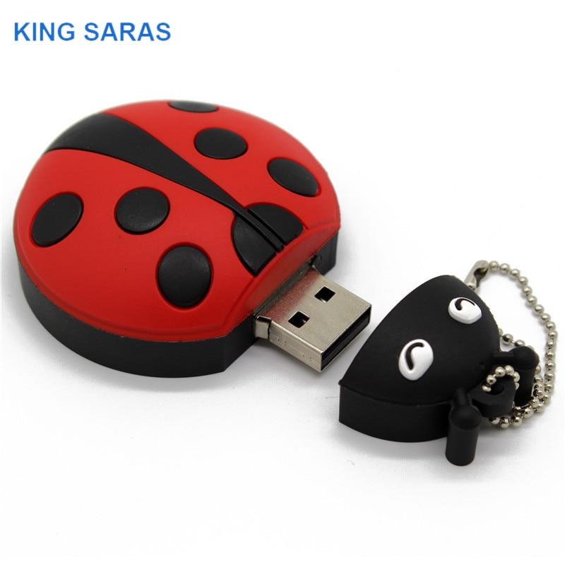 Image 5 - KING SARAS  cartoon Beetle model usb2.0 4GB 8GB 16GB 32GB 64GB pen drive USB Flash Drive creative gifty Stick Pendrive-in USB Flash Drives from Computer & Office