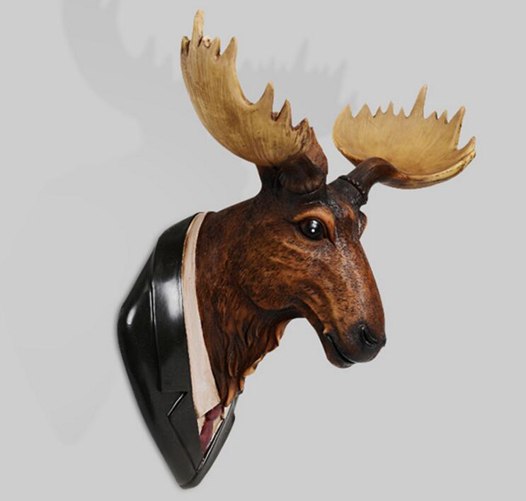 The American deer head hanging mural room background wall hanging statue sculpture home decoration accessories wapitiThe American deer head hanging mural room background wall hanging statue sculpture home decoration accessories wapiti