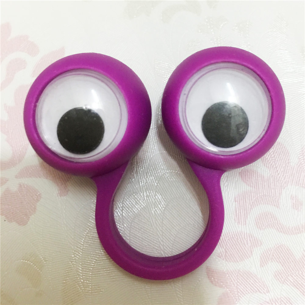 Big/Small size Eye Finger Puppets Plastic Rings with Wiggle Eyes ...