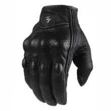 قفازات واقية للإصبع بالكامل ومفصل للإصبع قاسي مقاوم للانزلاق للدراجات النارية من الجلد الحقيقي بشاشة لمس ، معدات رياضية للرياضات الخارجية موتوكروس ATV