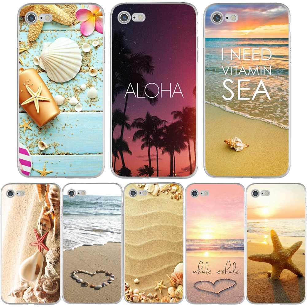 ciciber Beach Ocean Phone Cases for iPhone 11 Pro Max Cover For iPhone XR 8 7 6 6S Plus X XS Max 5S SE Soft TPU Shell Coque Capa