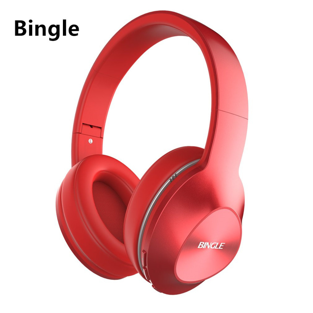 Original Bingle Multifunction stereo Wireless Headset Headphones with Microphone bluetooth headset for MP3 PC TV Audio Phones 2018 best original bingle b616 multifunction stereo with microphone fm radio for mp3 pc audio headset wireless headphones for tv