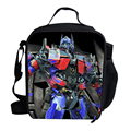 Fashion Cartoon Thermal Lunch Box Bag For Children Boys Optimus BUMBLEBEE Megatron Lunch Bag Insulated Cooler For Kids School