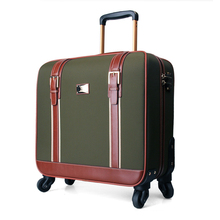 2016 NEW 16 20 inches Oxford  luggage 1 Piece Soft Travel Luggage Suitcase Trolley Bags 4 Wheels  Spinner Men pull rod carry-on
