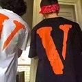 Vlone AMIGOS Tendência Camisetas Versão 1:1 de Alta Qualidade Da Marca Das Mulheres Dos Homens de Moda Verão Roupas Skate Hip Hop T Camisas Homme