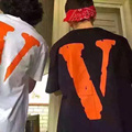 Vlone AMIGOS Trend Camisetas Hombres Mujeres Moda Verano 1:1 Versión de Alta Calidad de la Marca de Ropa de Skate Hip Hop Camisetas Homme