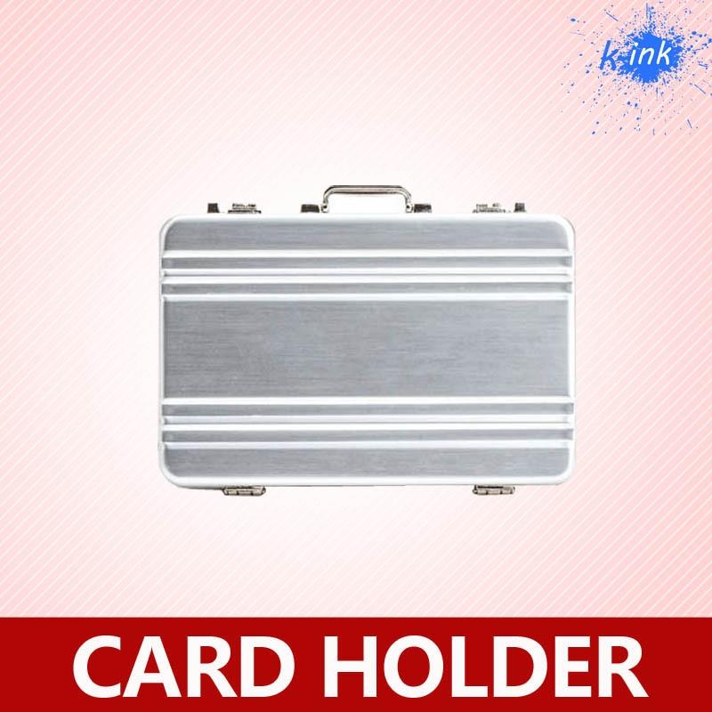 Novelty men\'s business card holder , desktop aluminum metal suitcase ...