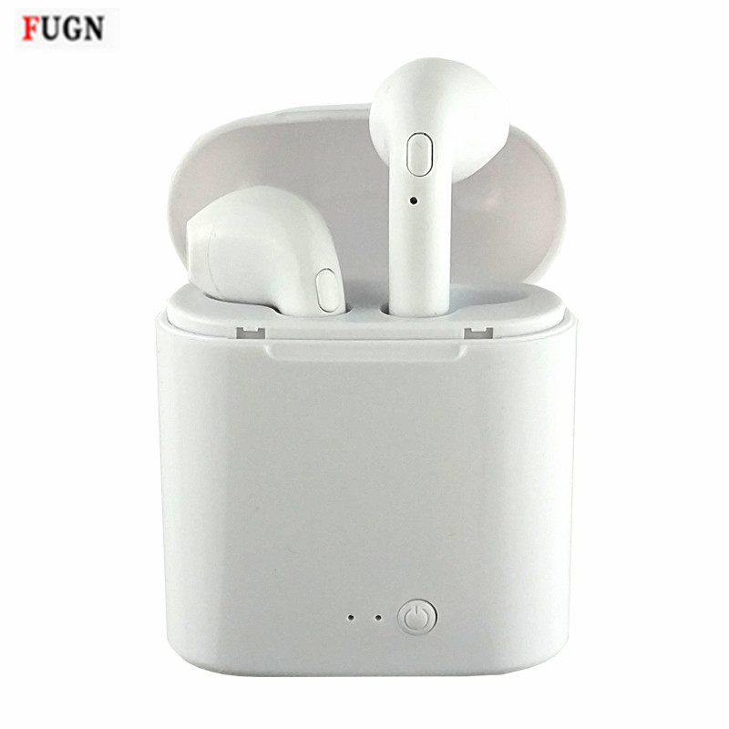 Mini i7 Twins Bluetooth Headset Phone Earphone Wireless Earbuds Headphone Car Earphone Handsfree with Mic For all Mobile phone qcy q26 mono earbud business mini headset car calling wireless headphone bluetooth earphone with mic for iphone 6 7 s8 android