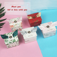 2019 50pcs Creative Upscale flower box Wedding Favors gift box Package Birthday Party gift bag paper bags candy box packaging