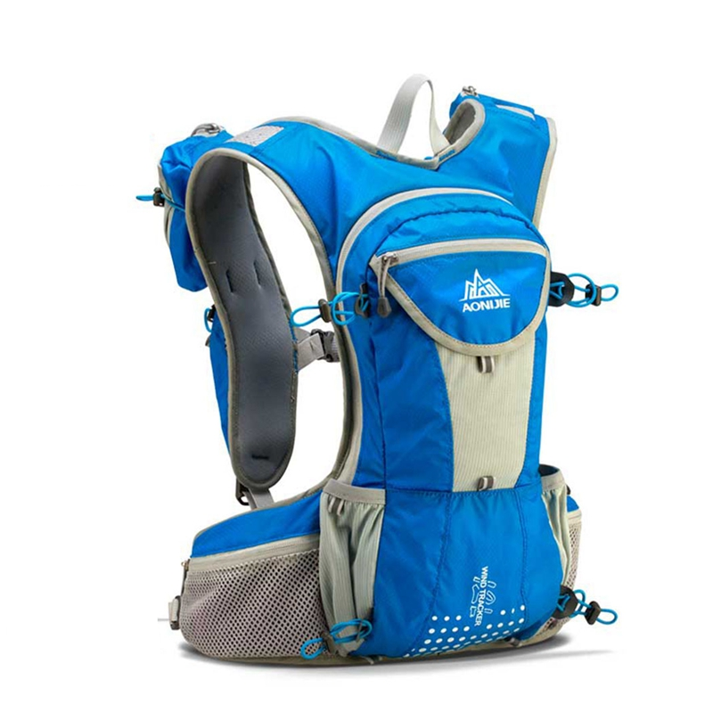 AONIJIE Nylon Running Backpack 12L Outdoor Lightweight Hydration Water Vest Pack Sport Bags Climbing Cycling
