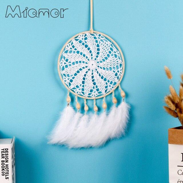 Miamor Big Dreamcatcher Handmade Crochet Dream Catcher Net With
