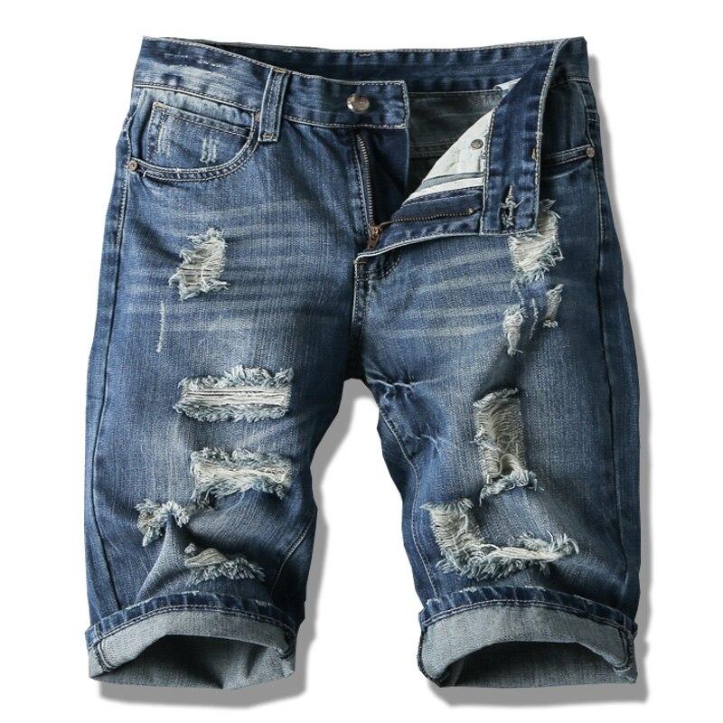 Verano Hombres Pantalones Cortos Hombres Pantalones Cortos De Moda De Los Hombres De Gran Venta De Verano Ropa Nueva Marca De Moda De Los Hombres Pantalones Cortos En Pantalones Vaqueros De Ropa