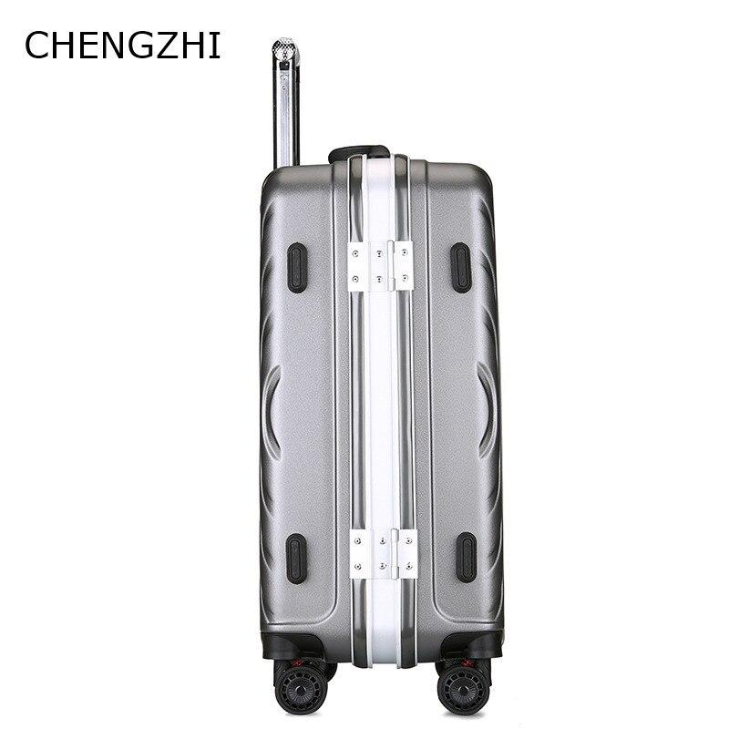 CARRYLOVE Unieke effen kleur 20/24/28 Inch size Klassieke mode handtas en Rolling Bagage Spinner merk Reizen koffer - 3