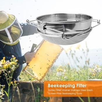 Honey Filter Strainer Stainless Steel Mesh Screen Filter Beekeeping Tools Double-Layer Filtration Of Lmpurities In Honey Tools