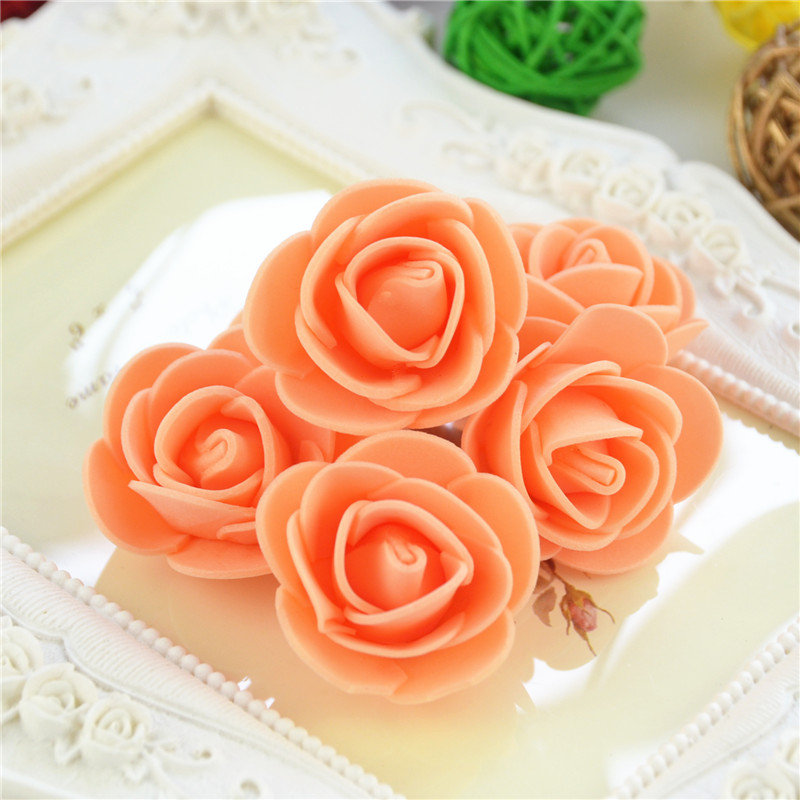 50pcs/Bag Multicolor Mini Rose Head Artificial Flowers For Wedding And Festival Party 28