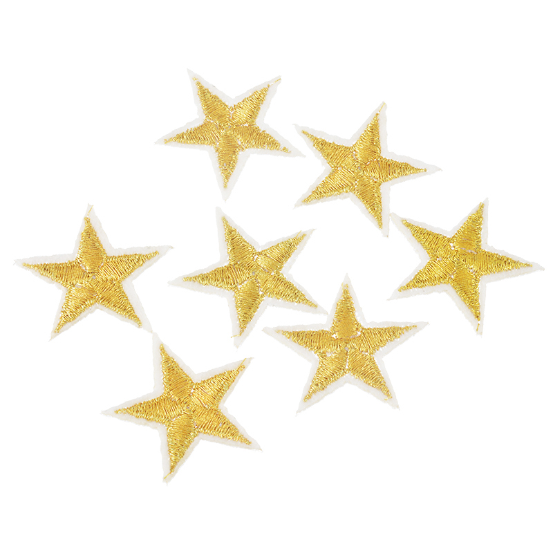 Hoomall Brand 10PCs Silver/Gold Stars Embroidered Badges ...