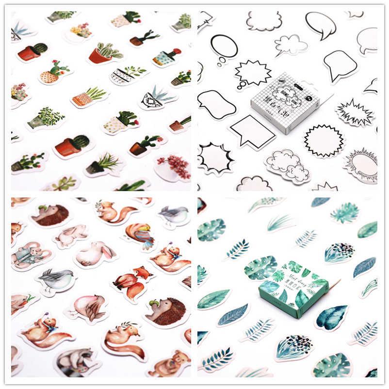 45 pçs/set lindo notebook bonito Vaso de plantas padrão Decoração de Halloween suprimentos de escritório papelaria Diário planejador