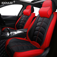 KADULEE luxury leather car seat cover for honda accord 7 8 9 10 2002 2018 civic 5d cr v crv fit jazz city UR V auto accessories