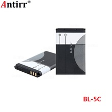 1pc Antirr Original 1020mAh BL-5C Mobile Phone Replacement Battery BL5C BL 5C For Nokia Li-ion 3.7V Rechargeable Batteries