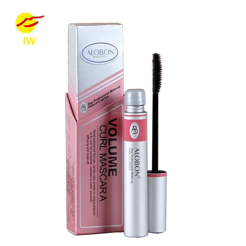 Alobon Black Ink 3d Fiber Lashes Mascara Individual Curl Eyelash Extension Colossal Mascara Volume Express Makeup 12ml