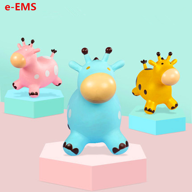 Children Animal Mounts Inflatable Jumping Deer Small Skin Horse Thicken Increase Rody Mounts Toy G2024