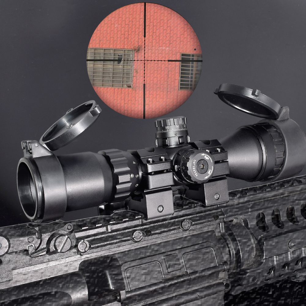 WIPSON Hunting Optical 3-9x32 AO 1inch Tube Mil-dot Compact Riflescope With Sun Shade and QD Rings Tactical Rifle Scope tactial rifle scope 3 9x32 1maol mil dot hunting riflescope with sun shade tactical optical sight tube equipment for hunter