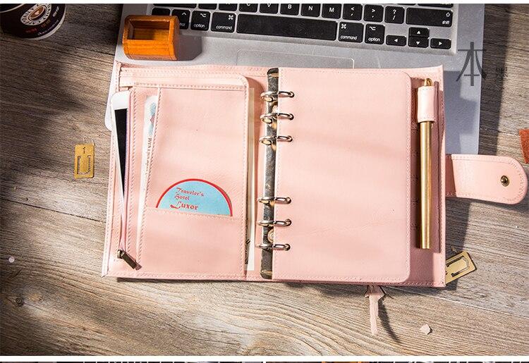 feito à mão couro presente viagem notebook acessórios
