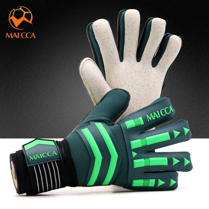 Professional Goalkeeper Gloves Strong Finger Protection Soccer Goalie Gloves Thickened Latex Strong 5 Finger Save Protection