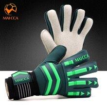 Профессиональные Вратарские Перчатки Сильный палец защита футбольные вратарские перчатки уплотненный латекс сильный 5 пальцев сохранить защиту