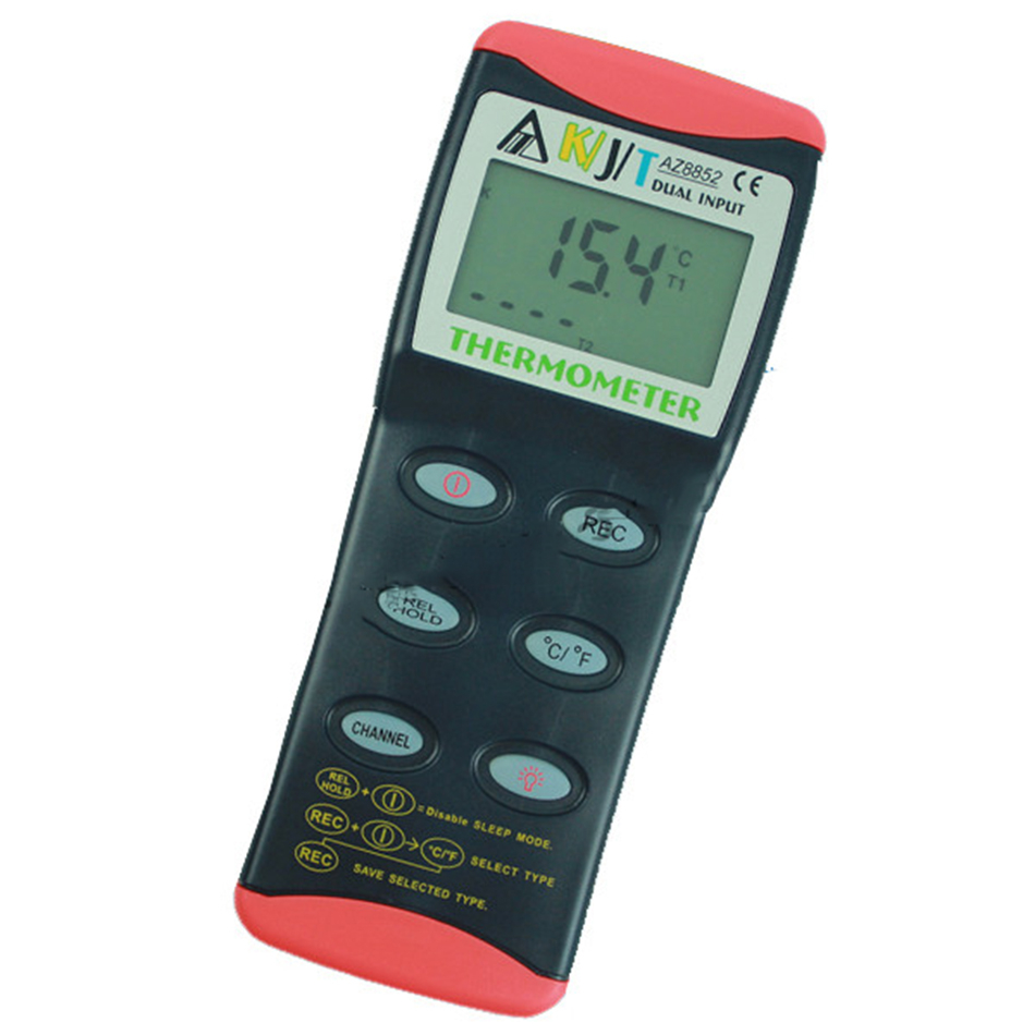 AZ8852 Dual Input Thermocouple Thermometer With K Temp range-200~1370 Two Channel Temperature Measurement Input