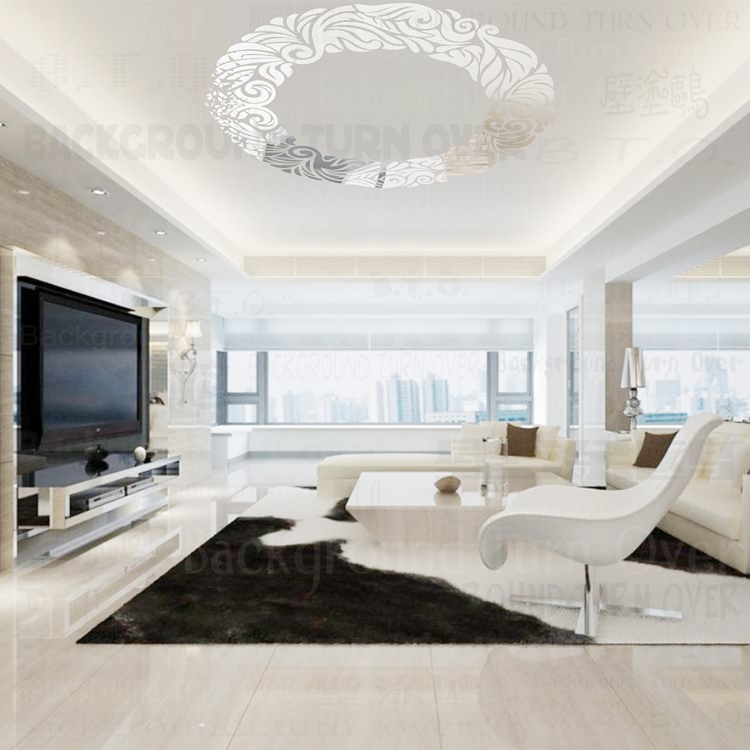 41 1 27 De Reduction Bricolage Creatif Cercle Anneau Plafond Miroir Decoration Mur Autocollant Pour Salon Salle A Manger Decoration De La Maison
