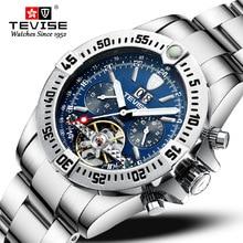 Switzerland Tevise Tourbillon Mechanical Watch Men
