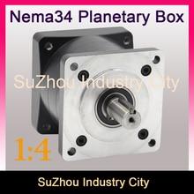 Nema34 Motore passo-passo 1:4 Planetary Rapporto di Riduzione 4:1 pianeta cambio 86 velocità del motore riduttore, Coppia elevata di alta qualità!!