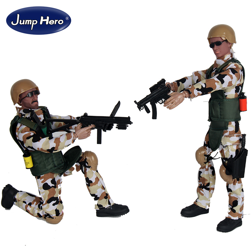 16PCS/SET Special Force Soldier Military Action Figure Dolls SWAT Soldier With Rifle Accessories Super System Kids Gifts Toys #F