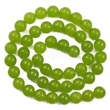 6mm Lime Green Ronde Losse Kralen Strand 15inch''(China)