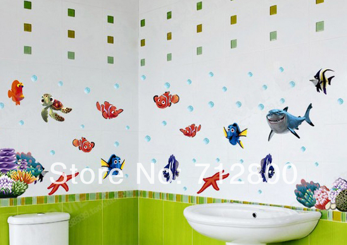 Aliexpresscom Buy FishBubble Removable 3D Wallpaper On Walls