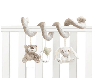 Baby Crib Toys 20-46cm Baby Bed Musical Mobile Soft Plush Rabbit Cot Stroller Hanging Rattle Toy Newborn Gift