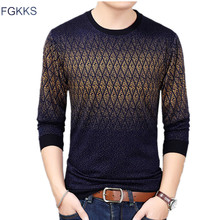 FGKKS Men Sweater Pullover 2018 Autumn Mens O-Neck Knit Warm Pullover Sweater Pull Homme Jersey Male Sweater Top