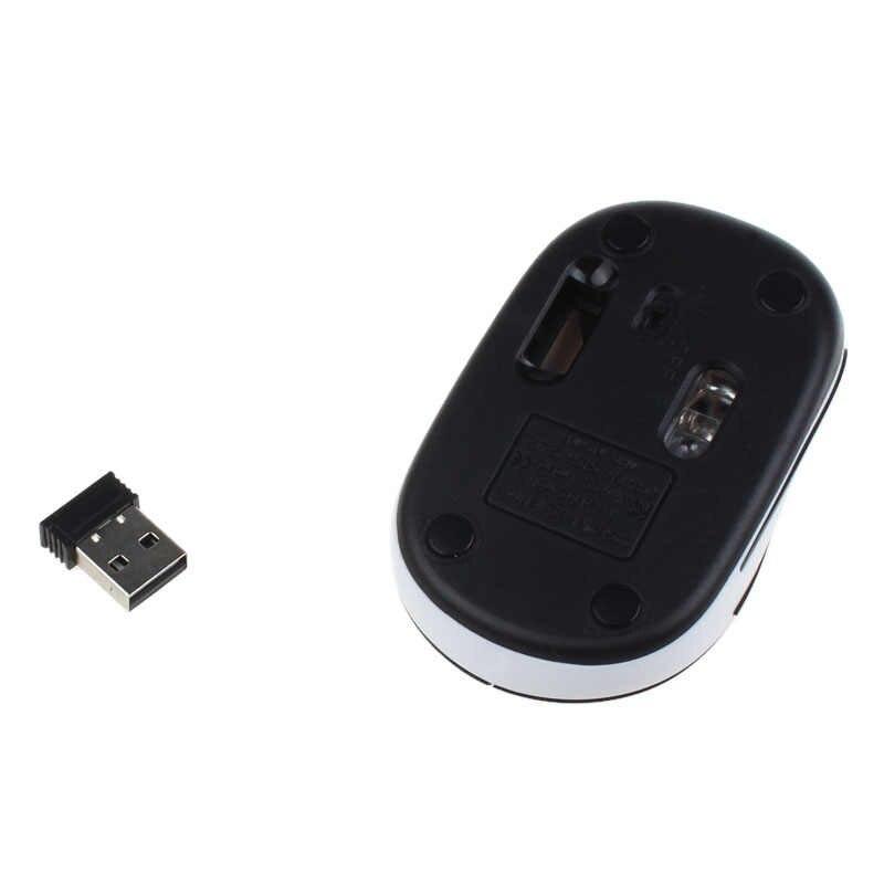 Lucu Mini 2.4G Hz Nirkabel Optical Mouse Mouse Forka Victsing untuk PC Laptop Notebook Noiseless Mouse