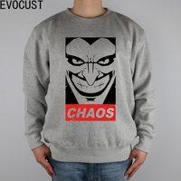 CHAOS JOKER men Sweatshirts Thick Combed Cotton